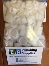 WHITE SCREW COVER CAPS - IDEAL FOR TOILET FIXING PKT 50