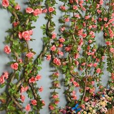 Weddings Artificial Flowers Silk Rose Rattan Arch Garland 230cm 16 To 69 Pcs New
