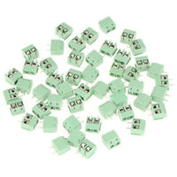50Pc/lot 5mm Pitch Plug-in Screw Terminal Block Connector PCB Mount 2-Pole 2-Pin