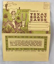 1954 Postcard Folder Texas Boast Cards Comic Artist C.M. Rogers Austin TX
