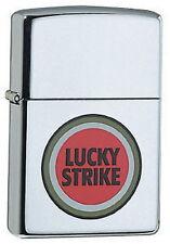 Briquet zippo Lucky strike Color High polished Chrome cigarettes marque nouveau OVP