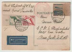 D2699 : 1936 Allemagne Vols Effectué Hindenburg Zeppelin Carte