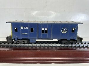 Athearn Ho Scale Model Trains Baltimore & Ohio Bag Window Caboose Car C-3000