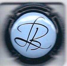 Capsule de champagne Brisson-Lahaye contour noir fond bleu clair