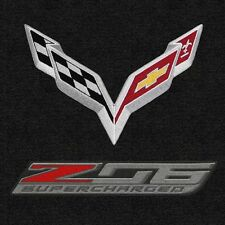 Lloyd Mats C7 Corvette Flags & Z06 Double Logo Cargo Mat (2015 & Up Coupe)
