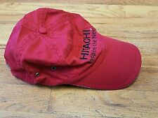 Hitachi Inspire the Next Red Cap Hat Strapback Embroidered Cotton