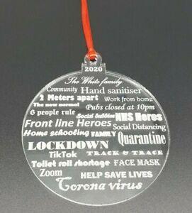 2020 personalised christmas xmas decoration keepsake survived bauble gift