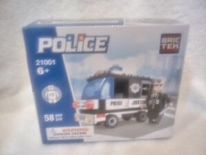 Bric Tek Building Blocks brictek Police 21001 Works w/ Other Blocks