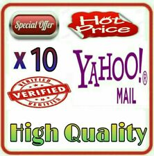 10 Yahoo Mails Verified by Phone Numbers - High Quality
