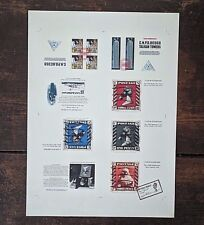 James Cauty Stamps of Mass Destruction Vol 1, Full un cut  Proof page 2004 rare