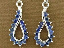 Hook Blue Sapphire Fine Earrings