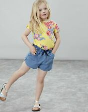 Joules Girls Liv Tie Sleeve Top  - YELLOW FLORAL