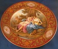 Antique 18thC Royal Vienna Porcelain Scenic Plate Porzellan Szenen Teller Scene