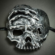 Silver Steampunk Skull Halloween Mask Masquerade Ghost Costume Pirate Skeleton