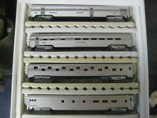 "HO CORRUGATED SIDE ""UNDECORATED"" 4 CARS SET  IHC SILVER RR1  **H Harvey**"