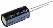 5 condensateurs chimique électrolytique 1000µF 1000uF 25V radial WH 105°C THT