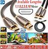 HDMI Cable v2.0 PREMIUM HD High Speed 4K 2160p 3D Lead 1m/2m/4m/5m/10m/15m/20m