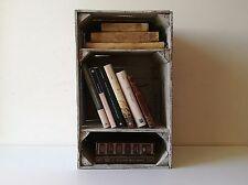 Cassette della frutta in legno,pitturate shabby chic,portariviste, libreria