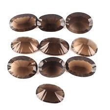10 Stück Natürlich Rauchquarz 28mm-32mm Oval Konkav Schliff Funkelnde Edelsteine