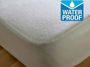 Terry Towel Waterproof Mattress Protector Single, Double, King, Super king Cot