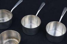 4 petites casseroles en métal argenté Christofle / Small christofle saucepan