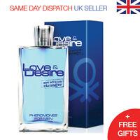Love & Desire Pheromones for Men 100ml GET FAST BEAUTIFUL WOMEN! Eau de Toilette