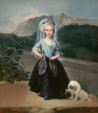 More details for lowchen maltese bolognese havanese dog art print - contesa de chinchon by goya