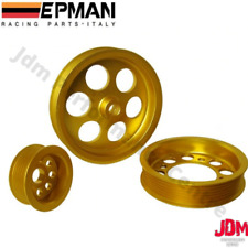 LIGHTWEIGHT CRANK PULLEY SET FOR 93-97 TOYOTA SUPRA MK4 JZA70 JZA80 1JZ 2JZ JDM