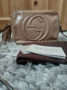 Authentic Gucci Soho Bag ( Rose Clair Patent Leather)