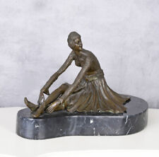 bronze Skulptur Anmutige Orientalin Bronzefigur Art Deco Frauenfigur 13kg