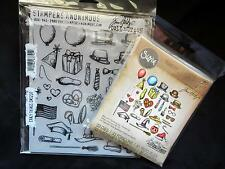 Lot Sizzix Crazy Things Stampers Anonymous Cling Mount Stamps & Framelits Holtz