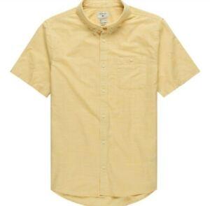 Quiksilver | Firefall Mellow Light Yellow Casual Button Down Short Sleeve Shirt