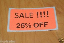 LOT 200 ORANGE SALE 25% OFF  Price Labels Stickers Tags Retail Store 2X1 INCH