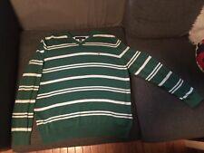 Vintage Tommy Hilfiger XL Sweater 90's Crewneck  Hip Hop Rap Striped Preppy Dope