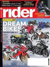 RIDER January 2017--BMW Ducati Honda Kawasaki KTM Moto Guzzi Suzuki Triumph Yama
