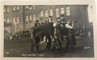 Antique Postcard RPPC Washington State College May Fete 1915 Mobile Laboratory
