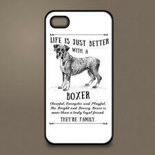 Boxer dog phone case cover Apple iPhone Samsung Galaxy ~ Personalised
