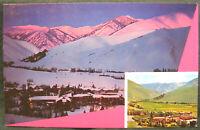 Postcard ID Sun Valley Alpenglow Penny Mountain Idaho
