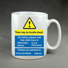 Mug Funny Warning Work Sign Birthday Gift Present Trouble Ahead Music & Dance