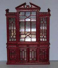 HANSSON DELUXE CHINA CABINET MAHOGANY CA00202HGR  MINIATURE DOLL HOUSE FURNITURE