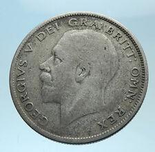 1929 Great Britain United Kingdom UK King GEORGE V Silver Half Crown Coin i78093