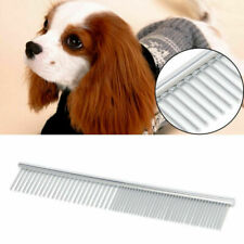 Stainless Steel Pet Dog Puppy Cat Comb Long Hair Shedding Grooming Flea Comb