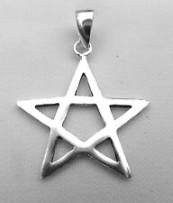 Sterling Silver (925)  Pentagram  Pendant  !!      Brand  New !!