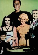 The Munsters 1967 Vintage Postcard Halloween TV Cast Promo Photo Litho COA