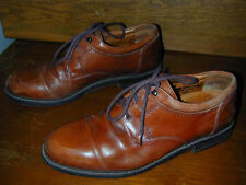 SHOES FORMAL Johnston&Murphy Elegant Leather 11.5M Styl Dress Brown Comfort Lace