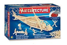 Matchitecture 6646 Rescue Helicopter Matchstick Model Kit  FREE Tracked 48 Post