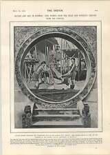 1905 Kwemie Women Arakan Mandalay Carving Record Office Treasures