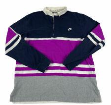 Nike Sportwear Mens Long Sleeve Rugby Shirt Size Large Blue Purple