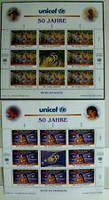 Uno Wien - Kleinbögen Nr. 218-219 - 50 Jahre UNICEF - postfrisch **