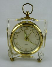 VINTAGE Sheffield Lucite Wind Up Alarm Clock Mid Century Modern W. Germany